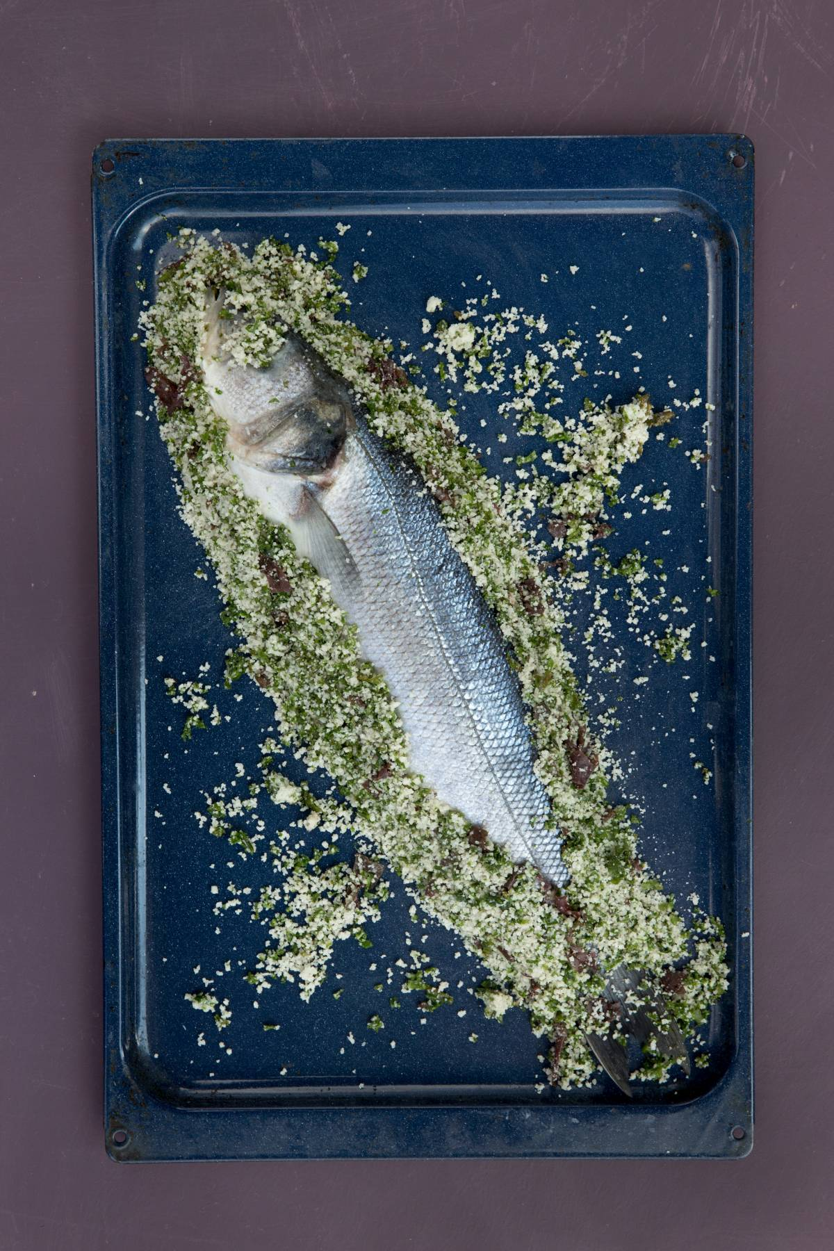 Recette du filet de merlan au gros sel aux Algues