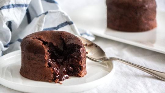 Recette du fondant au chocolat à la fleur de sel (pour 6 à 8 personnes)