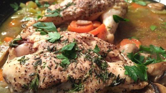 Recette du poulet fermier à la salicorne