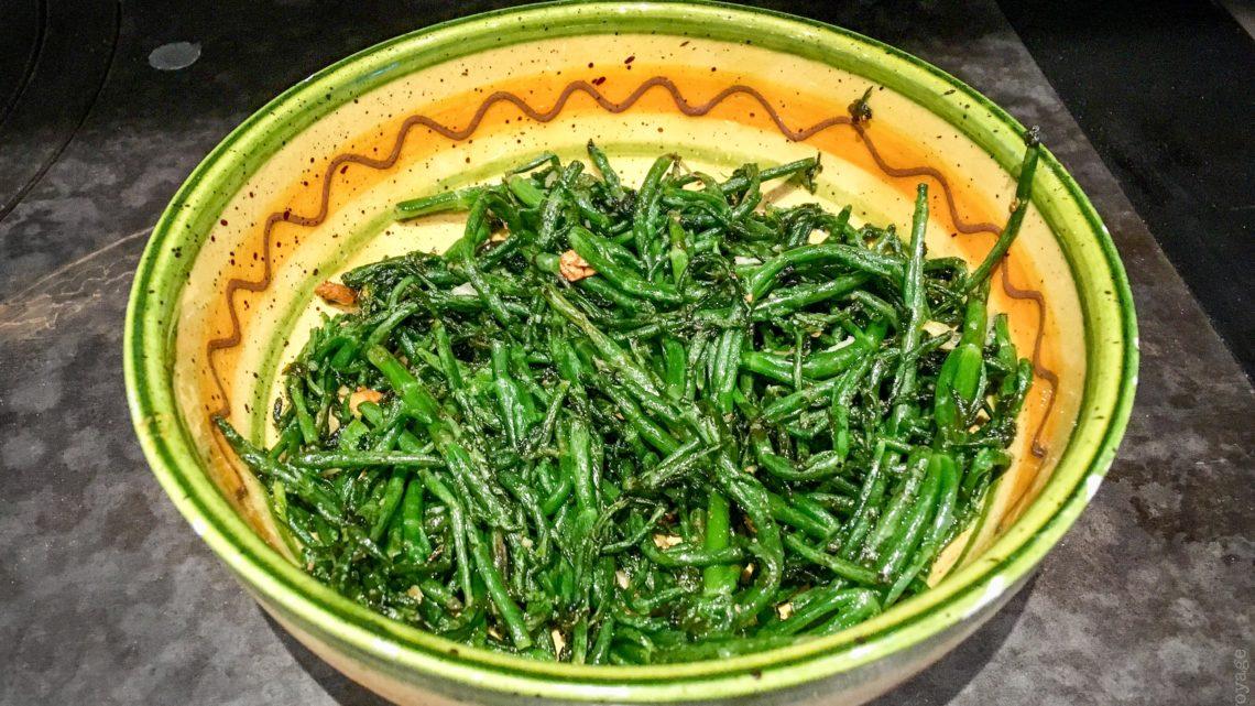 Recette de la salicorne fraîche au sel persillade